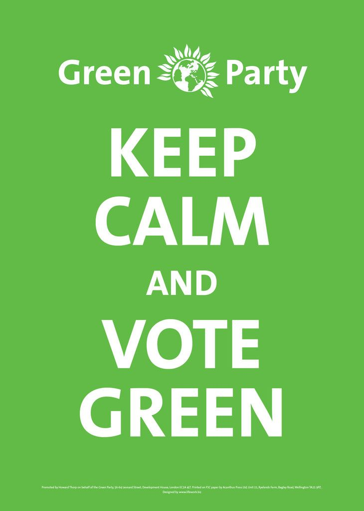 A4 Keep Calm and Vote Green Posters – Green Party of England & Wales