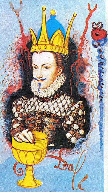 Queen of Cups from Salvador Dali Universal Tarot