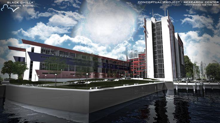 Celestial Scientific Building - Research Center - Conceptual Project by architect Mateusz Wielgus || http://www.behance.net/gallery/Celestial-Scientific-Building-Research-Center/12324683 || #architecture #design #project #architektura || Contact us: kontakt@blackchilla.pl