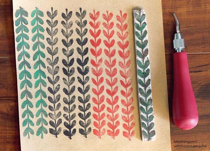 round leaf #blockprint #blockprinting #printmaking #carving #linocut #stamp #print #printing #paper #card #flower #image #pattern #handmade #illustration #illust #판화 #일러스트 #그림 #꽃 #패턴#문양 #이미지 #핸드메이드 #카드