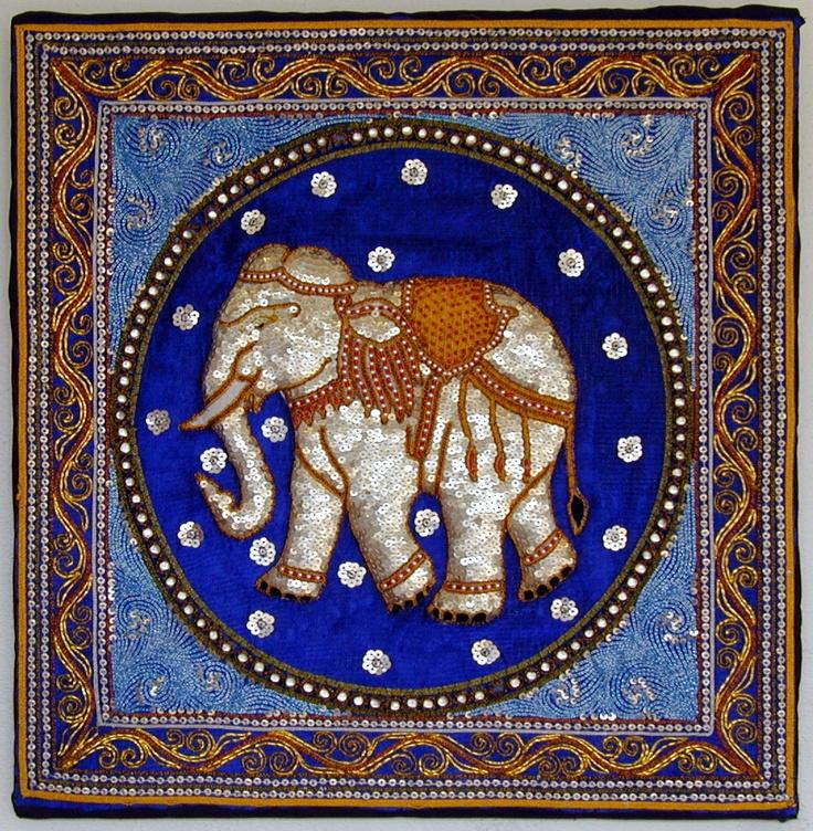 Elephant Kalaga Tapestry--Myanmar www.visitmm.com