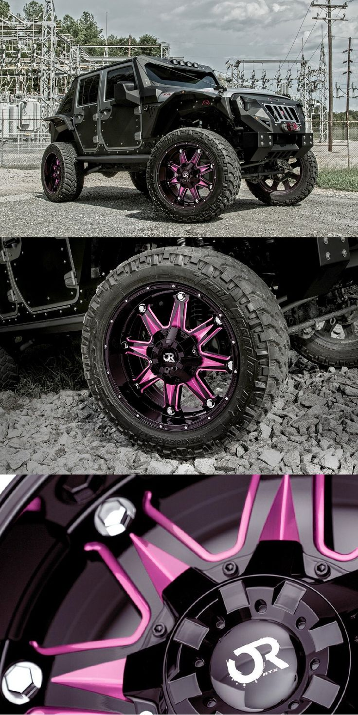 Pink Jeep Wrangler >> RTX® - SPINE Gloss Black with Pink Accents   Jeep wrangler ...