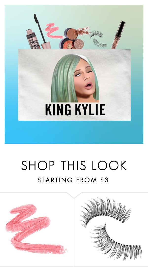 """""""king kylie makeup bag"""" by htotheizzyclothing on Polyvore featuring Trish McEvoy and Maybelline"""