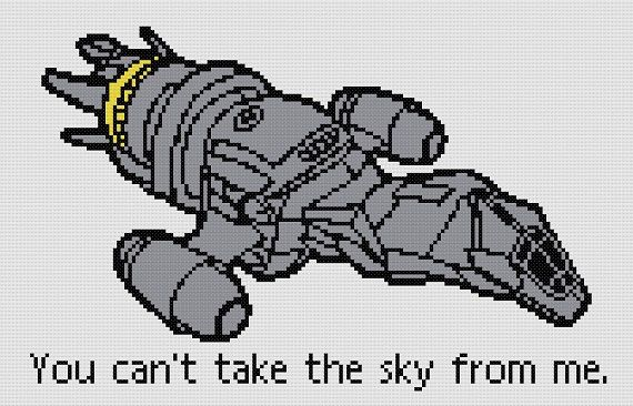 Firefly Serenity Quote Cross Stitch Pattern