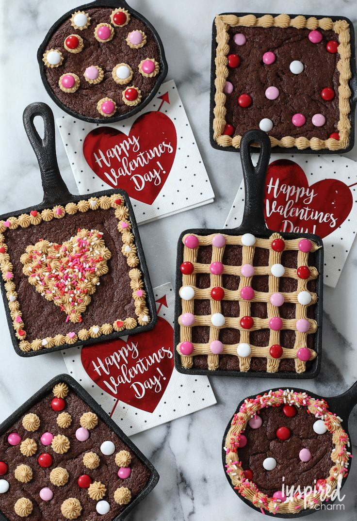 Celebrate Valentine's Day with Skillet Brownies