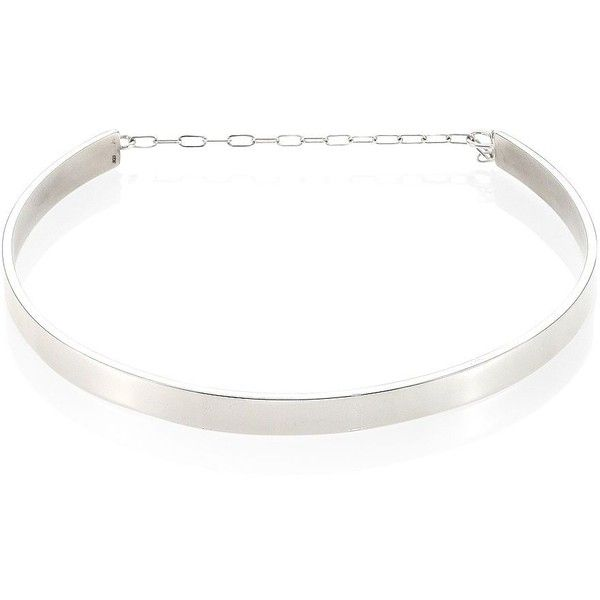 Jennifer Zeuner Jewelry Kerry Sterling Silver Choker ($295) ❤ liked on Polyvore featuring jewelry, necklaces, apparel & accessories, silver, sterling silver necklace, polish jewelry, sterling silver choker, jennifer zeuner and jennifer zeuner necklace