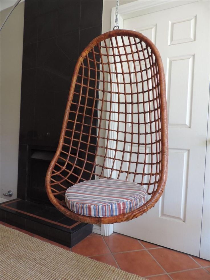 70s Vintage Cane Hanging Chair Eames Retro Era In Sydney