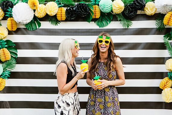 A pineapple-themed birthday party