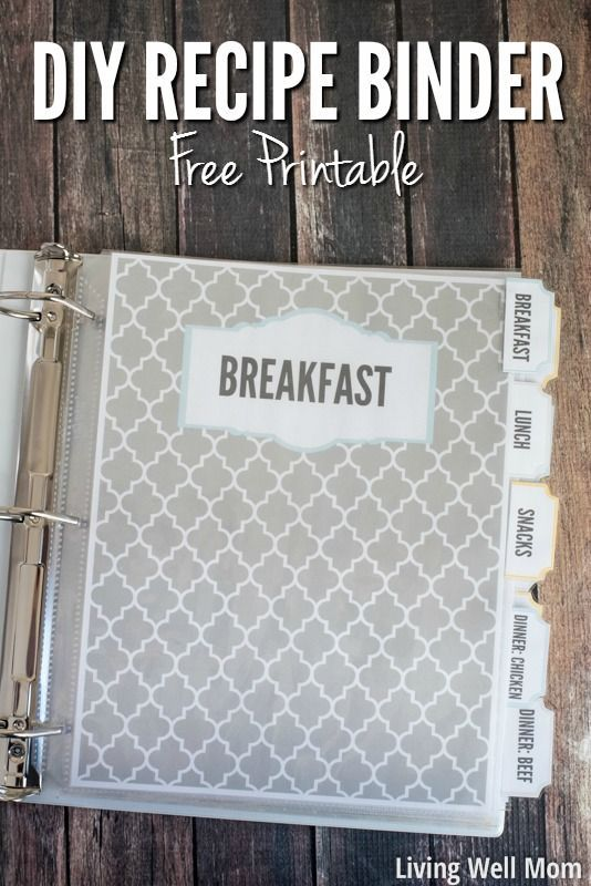 DIY Recipe Binder {Free Printable!}