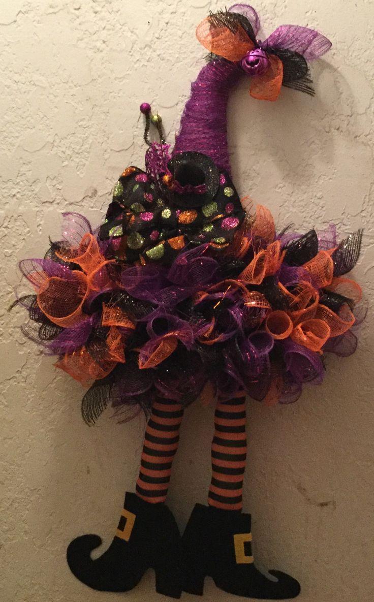 Dollar tree witch hat halloween wreath crafts witch hat