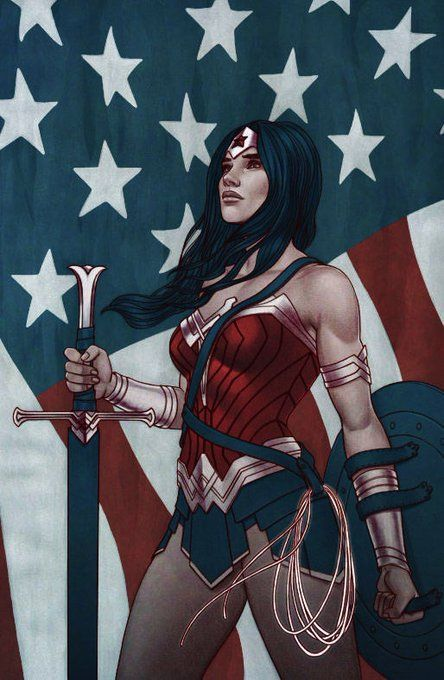 DC Comic Book Artwork • Wonder Woman By Jenny Frisson. Follow us for more awesome comic art, or check out our online store www.7ate9comics.com