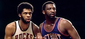 Kareem Abdul-Jabbar and Bob Lanier.  When big men ruled the NBA.