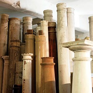 salvaged columns - love the one in lower right hand side