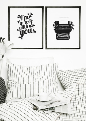 modern black & white print from one must dash
