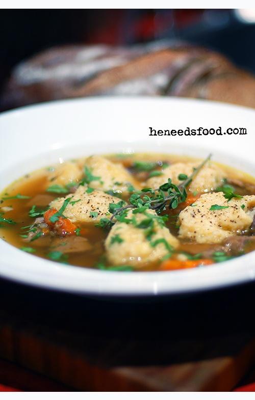 Klimppikeitto {Finnish beef + dumpling soup}