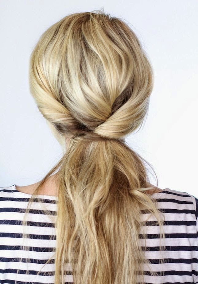 Hair inspiration - criss cross ponytail