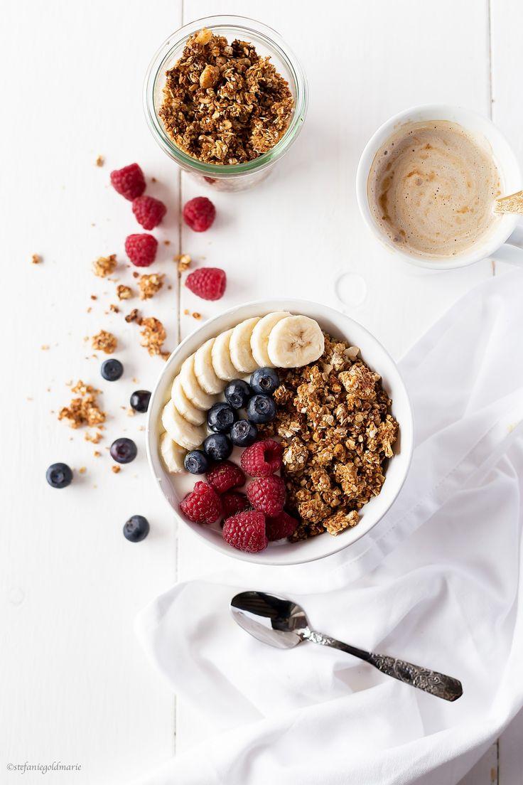 Yogurt, granola, fruit + coffee || A breakfast favorite