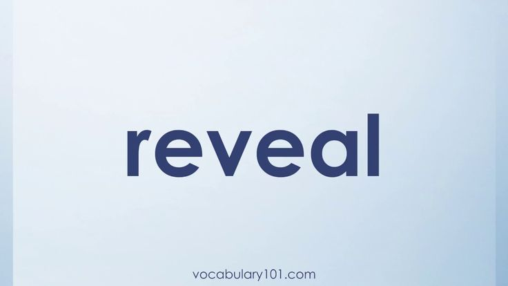 reveal Meaning and Example Sentence | Learn English Vocabulary Word with Definition