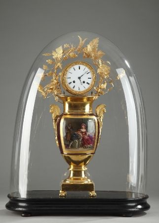 Charles X Vase and Clock in Troubadour Style