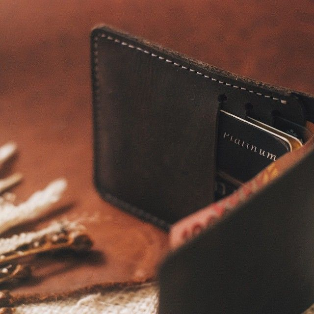 "Codename Amber Leather Half Wallet The New Gemstone Collection  With 3 Card Pockets and Bill Slot  With the Amber Leather Half Wallet, we just redefined the word ""sexy"""