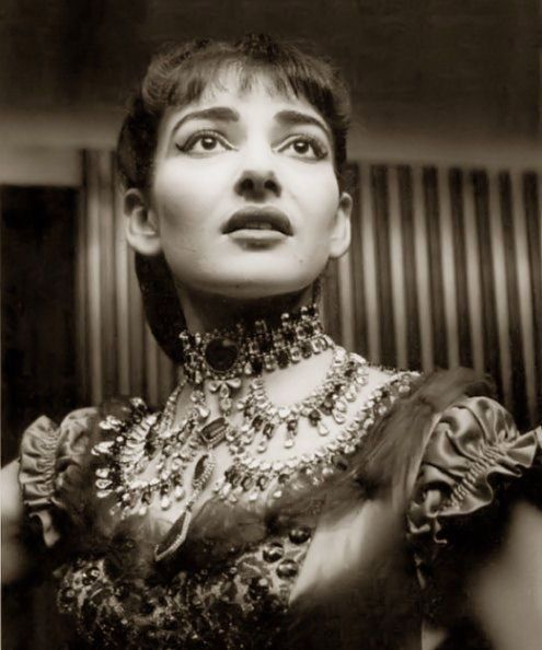 Maria Callas, 1955, in costume as Violetta in La Traviata
