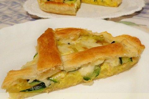 Crostata con zucchine tonno e patate