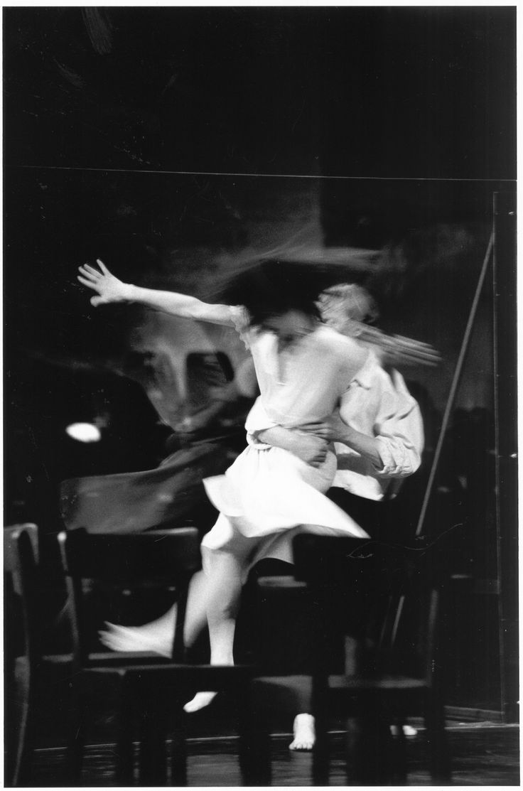 Pina Bausch - Cafe Muller: [in this particular segment - repetition/constraint/pace are influences in filming HOLE with a single dancer in a the Dublin docklands.]