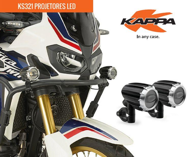 KAPPA | KS321 Projetores LED || Par de projetores anti-nevoeiro universais, certificados, com tecnologia LED e caixa de alumínio pintada de preto. #kappa #lusomotos #led #projetores #estilodevida #energia #universais #andardemoto #moto