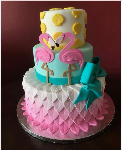 "Donna Olsen on Instagram: ""#flamingo #birthdaycake #cake #flamingocake #kdcakesbydonnaolsen"""