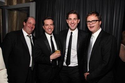 My favorite guys!  Rainn Wilson, John Krasinski, Ed Helms and Brian Baumgartner at event of The 66th Annual Golden Globe Awards.