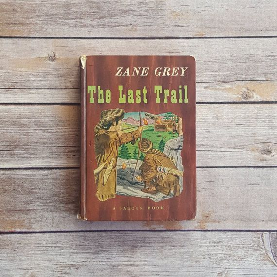 New in The Book Cottage: Book Pages Upcycled Book Damaged Book The Last Trail Zane Grey Book Ohio River Series American Revolution Era Rustic Cabin Set Decor Prop by TheBookCottage