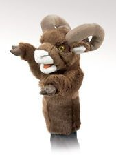 BIGHORN SHEEP Stage Puppet # 2985 ~ Free Shipping within USA ~ Folkmanis Puppets