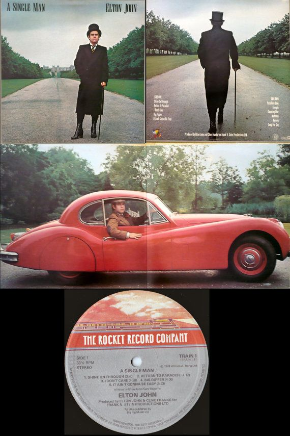 ELTON JOHN A Single Man 1978 Uk Issue Lp 33 rpm Album Vinyl Record Classic Pop Rock 70s Song for Guy Train1 Free s&h