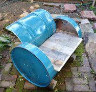 Chaise de baril industriel meubles choisir votre couleur régénérée assise bois