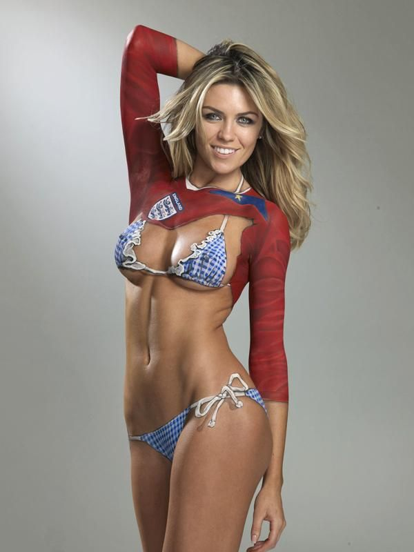 Abbey clancy danica patrick women of sports for Best body paint pics