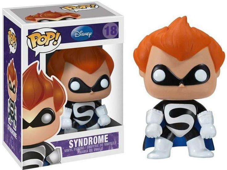 Cabezón Los Increibles. Syndrome, 10 cms. Pop Disney. Funko Cabezón creado por Funko en su colección POP Disney de Syndrome, personaje de la película Los Increibles.
