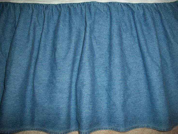 ralph denim blue jean medium wash bed skirt 14