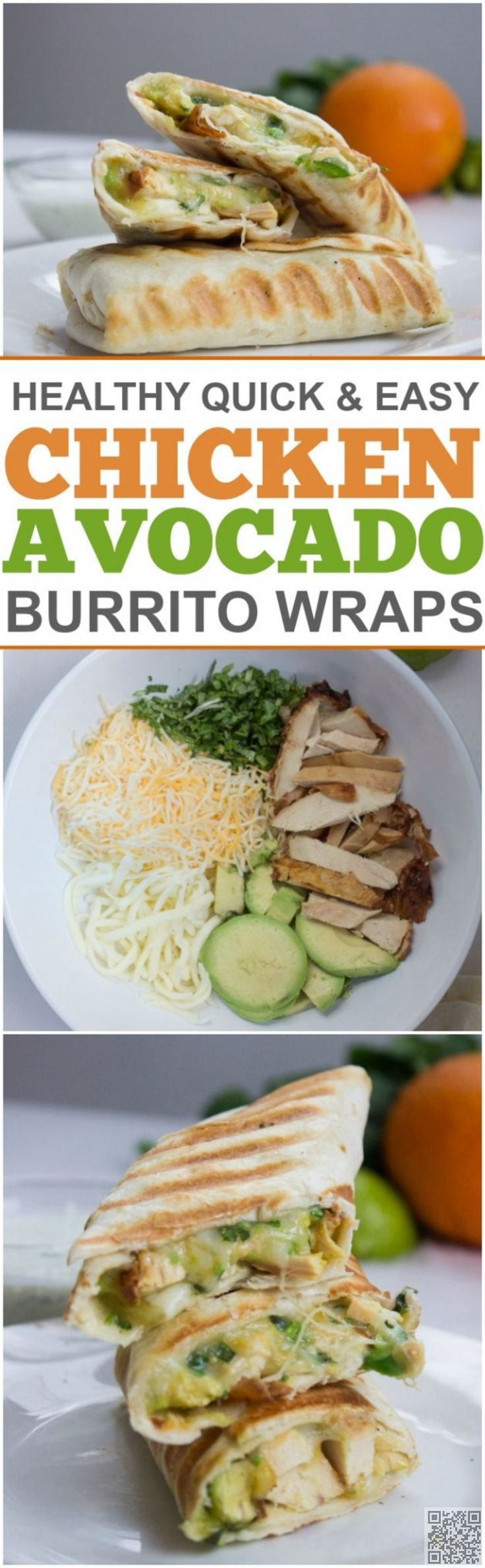 11. #Chicken and Avocado #Burritos - Wait Til You See These 35 #Superb Things You Can do with an #Avocado ... → Food #Salad