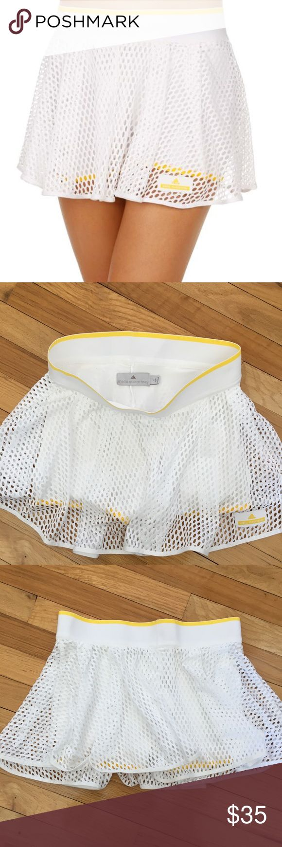 Adidas Barricade skirt by Stella McCartney Barely worn white skort (no stains as shown in the pictures). This is perfect athletic attire: comfortable and cute! Adidas by Stella McCartney Skirts Mini