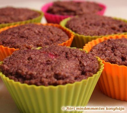 Piros bogyós muffin szteviával