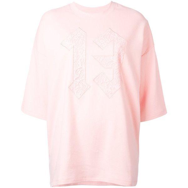 Fenty Oversized T-Shirt ($93) ❤ liked on Polyvore featuring tops, t-shirts, pink, oversized pink t shirt, puma t shirts, pink top, oversized tops and puma top