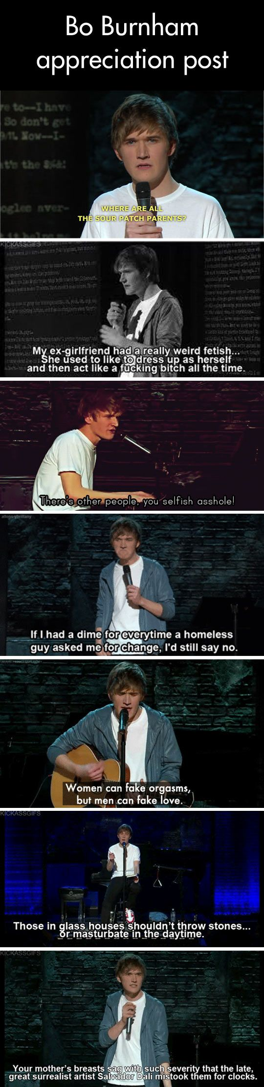 Bo Burnham is always appreciated around our place.