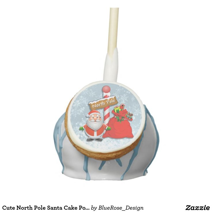 Cute North Pole Santa Cake Pops