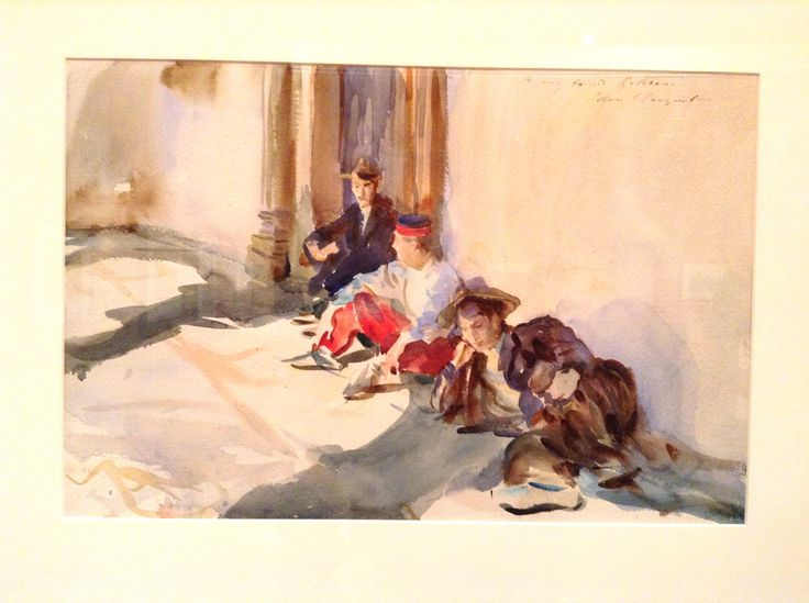 John Singer Sargent - watercolor - Brooklyn Museum of Art exhibit in 2013