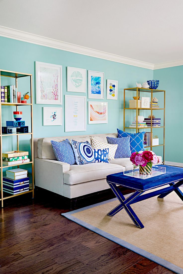 32 Creative Ideas for Every Blank Wall in Your Home | Blue ... on Creative Living Room Wall Decor Ideas  id=66222