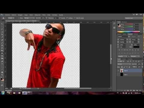 Como quitar el Fondo a una Imagen en Photoshop CS6 - YouTube