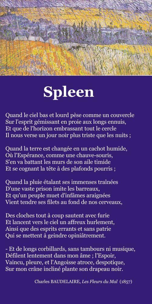 BAUDELAIRE, Spleen   À la française …
