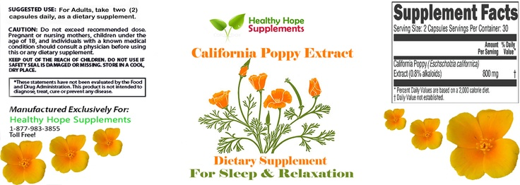 Poppy seed extract for pain