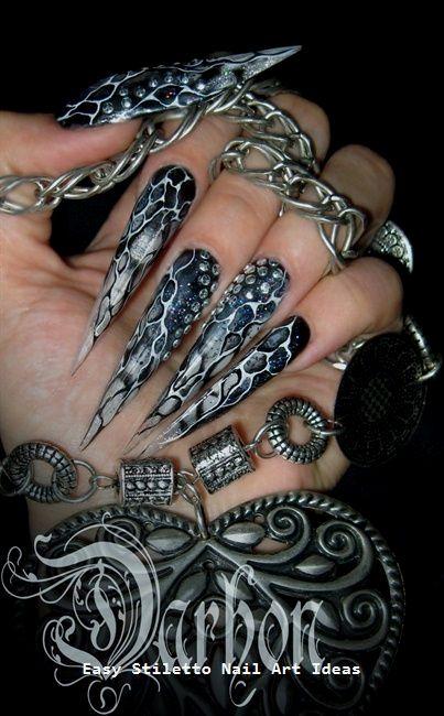 30 große Stiletto Nail Art Design-Ideen #nailideas #naildesigns – Long Stiletto Nails