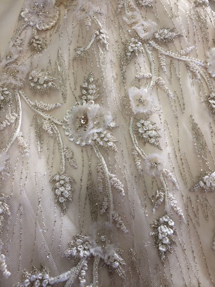 Gorgeous details Lazaro Wedding Dress 3064 FOR SALE